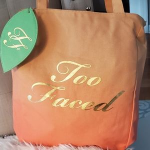 TOO FACED BRAND NEW CANVAS BAG